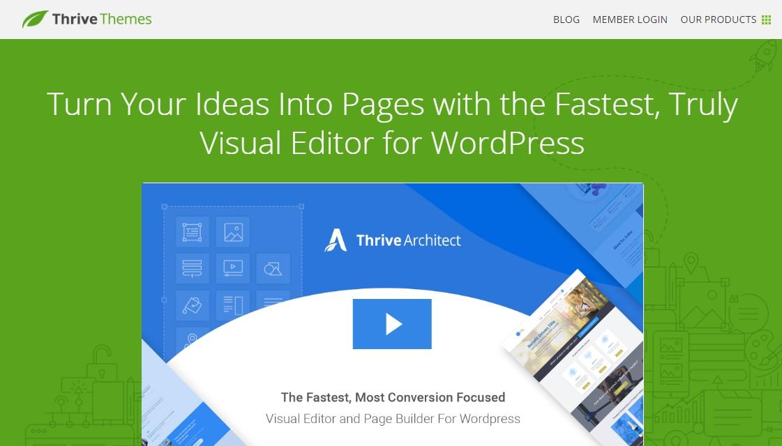 Thrive wordpress page builder